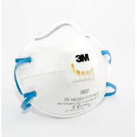 PROTECTIVE MASK P-DUST P2 WITH VALVE 8822 FFP2 3M